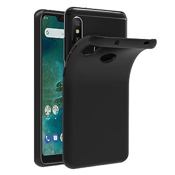 iVoler Funda Carcasa Gel Negro para Xiaomi Mi A2 Lite/Xiaomi Redmi 6 Pro, Ultra Fina 0,33mm, Silicona TPU de Alta Resistencia y Flexibilidad