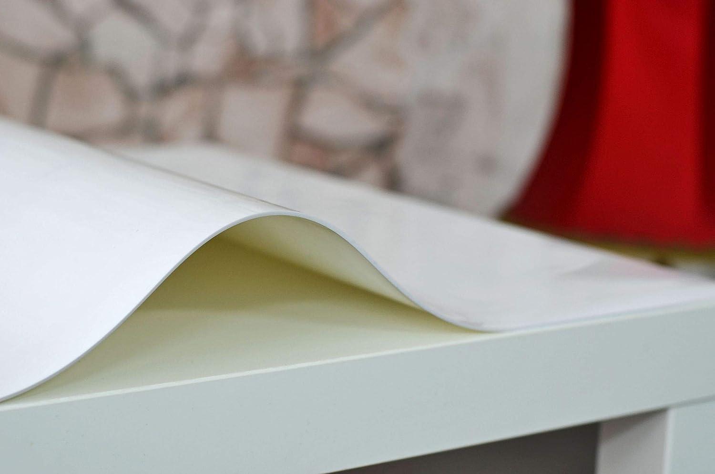 Aix Home GmbH PVC Tischfolie Schutzfolie   Tischdecke Tischschutz 2mm Hochglanz Weiß Breite  90 cm, Tischfolie 140cm B01AXJJDU0 Tischdecken
