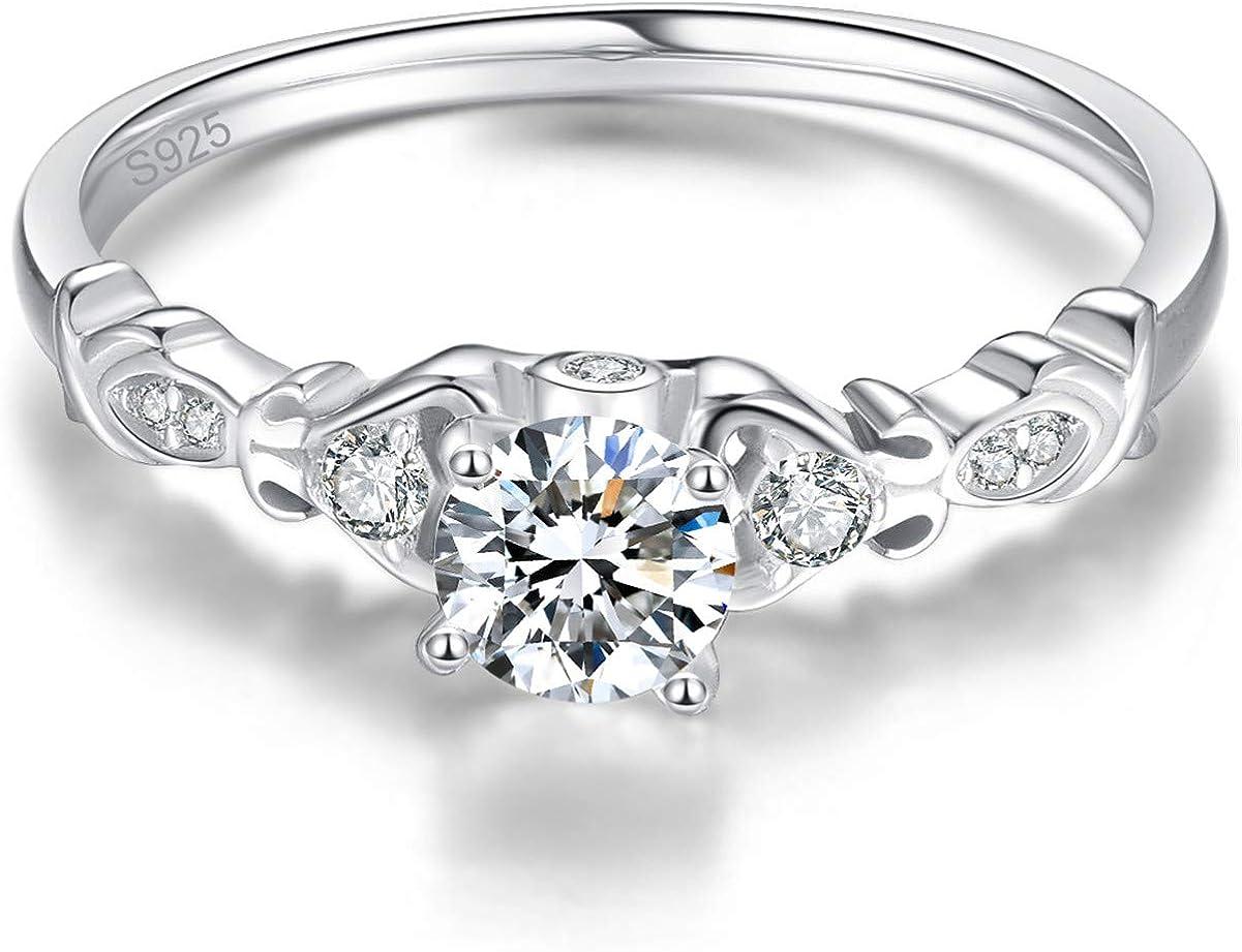 Beniamino Femmes Ring 925er Sterling Argent Zirconium 3,5 CT 18 K Rhodiniert neuf dans sa boîte
