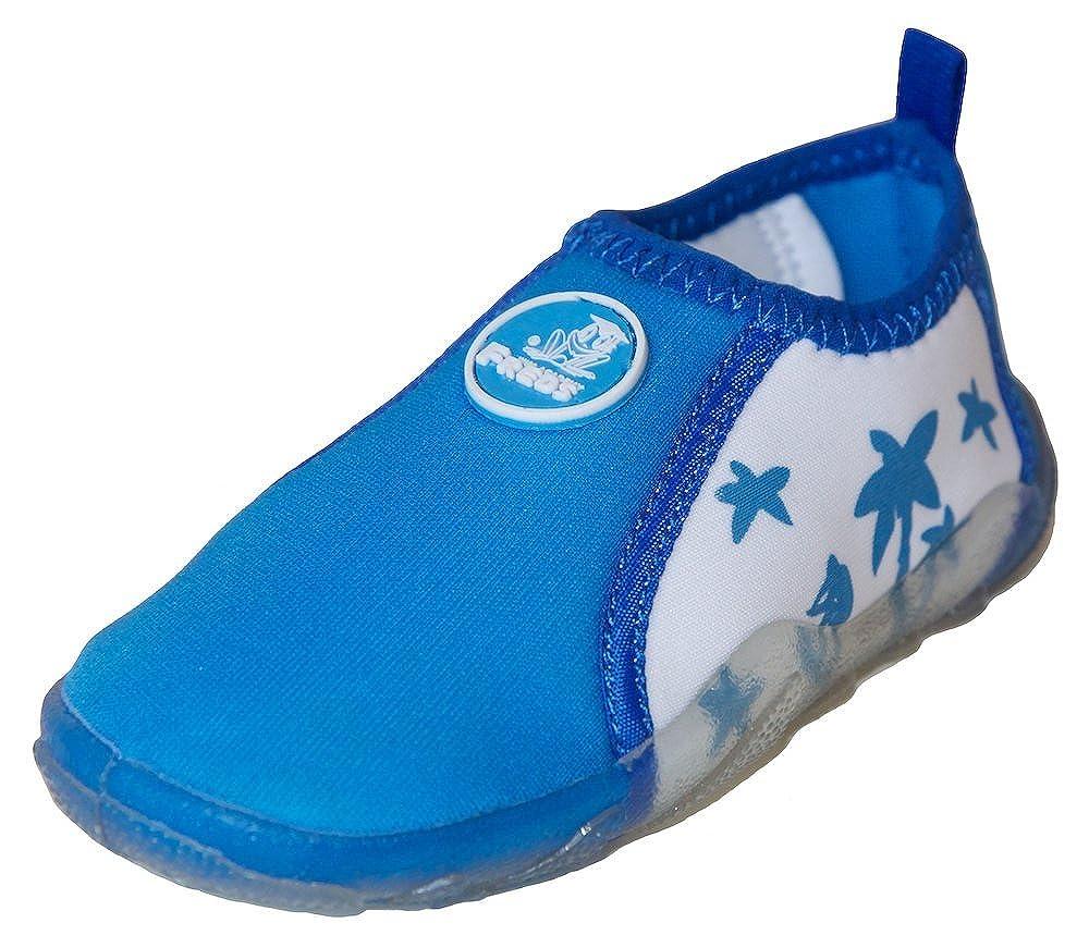 FREDS SWIM ACADEMY Kinder Aqua Schuhe Badeschuhe Wasserschuhe Strandschuhe 27 blau
