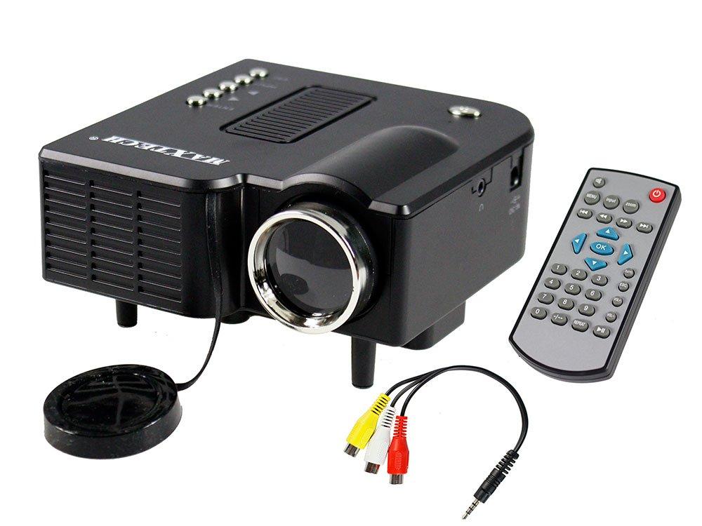 vetrineinrete® Mini Proyector Max 1080P HDMI USB VGA SD Home ...