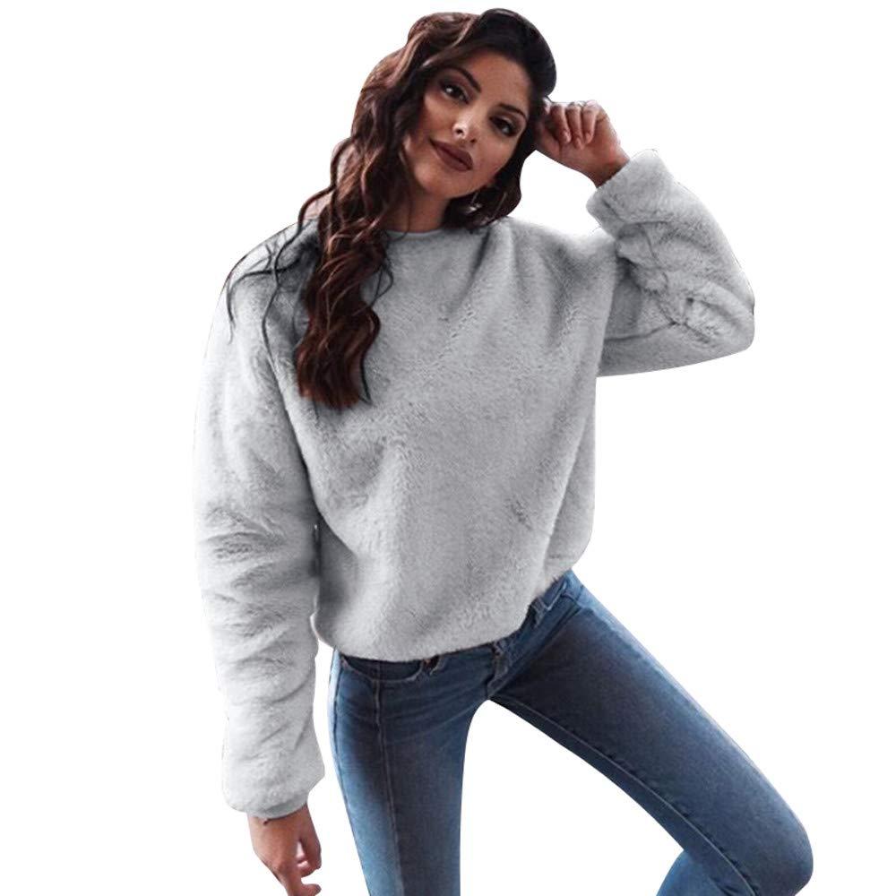 Maglieria Donna, Hanomes Fashion Donna Casual Top Blend Fuzzy Blouse Pullover Maglione Allentato
