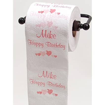 amazon com justpaperroses happy birthday toilet paper top 25 male