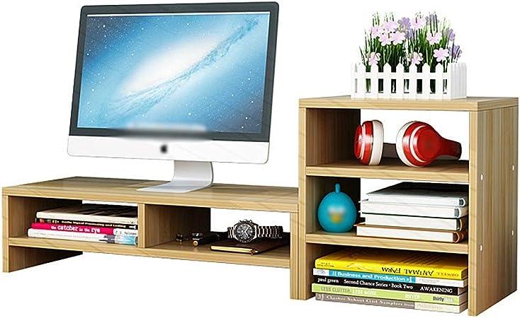 Elevador de monitor de escritorio Laptop Stand Y la pantalla for el escritorio, el apoyo a un televisor o monitor de ordenador PC, ergonómico escritorio de oficina estante para computadora TV portátil: