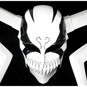 Gmasking Bleach Ichigo Kurosaki Hollow Cosplay Helmet Collection 1:1 Black Replica