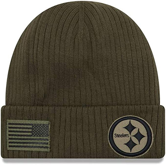 New Era Salute to Service Wintermütze Pittsburgh Steelers