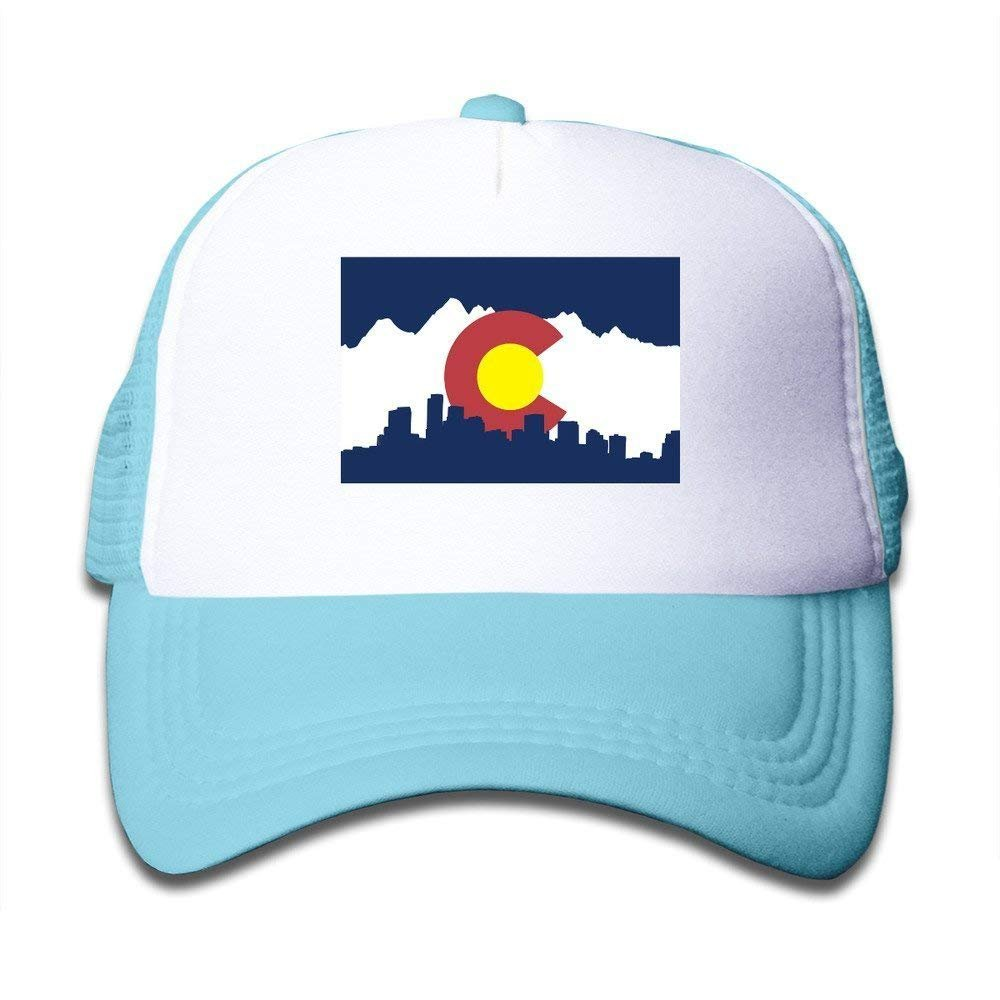 FEAIYEA Colorado Flag Hats for Kids