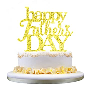 Grantparty Gold Happy Father S Day Cake Topper 2019 Father S Day Party Decorations Happy