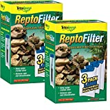 Tetra 26049 ReptoFilter Filter Cartridges, Large, 6-Count by Tetra