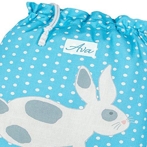 Personalisiert Kordelzug PE/ Pumps/ Gym/ Kordelzug/ Ballet Bag Bunny Türkis