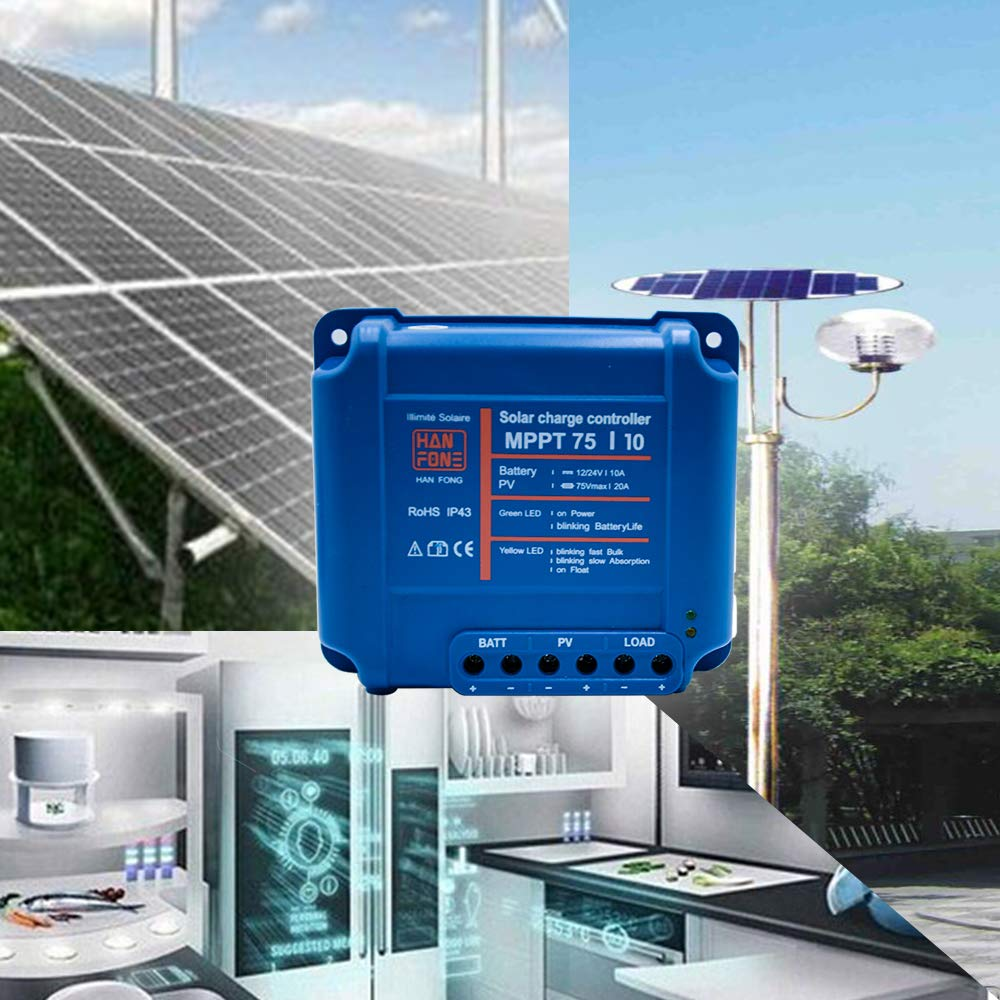 HopeU5 75//10 MPPT Solar Regulator 12 V 10 A