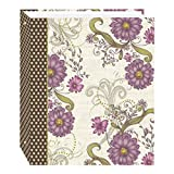 magnetic photo sheets - Magnetic Self-Stick 3-Ring Photo Album 100 Pages (50 Sheets), Berry Blossoms Design