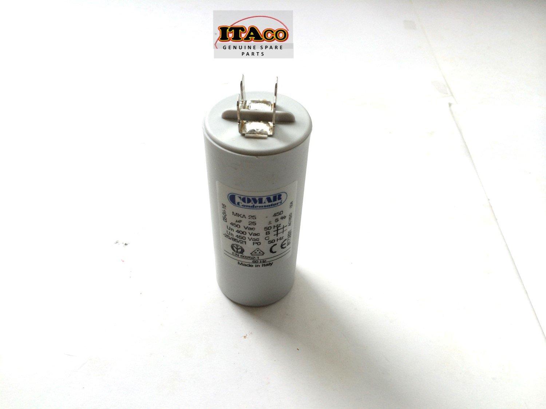 Made in ITALY Motor Electrolytic Comar CONDENSER CAPACITOR MKA 25 UF - 23.8UF ~ 25UF ~ 26.25UF 24uF 26uF 450V Vac by ITACO