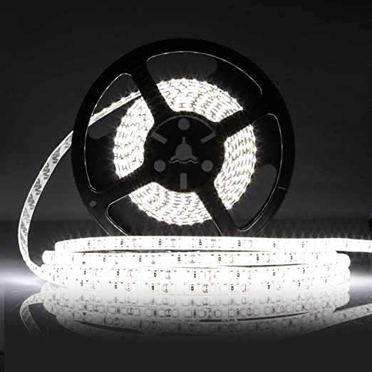 LEDMO Striscia LED, strisce di led bianco 6000K, SMD2835-600led IP65 ...