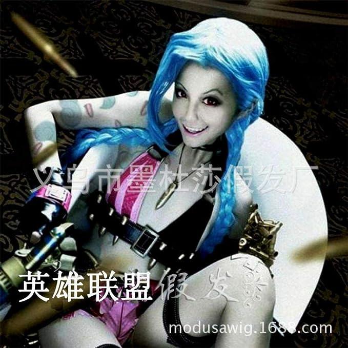 CXQ fibra química casco Jinx peluca jinx loli cos fibra química ...