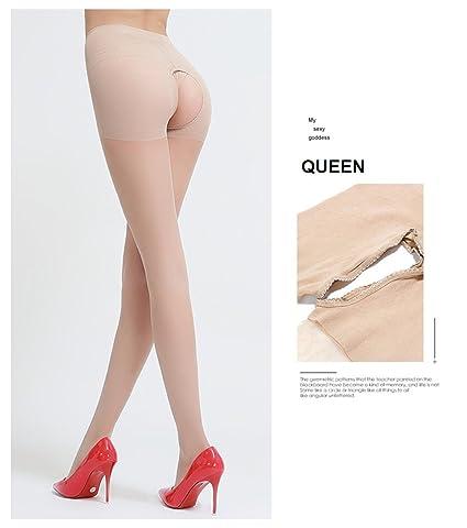 c8e52145b27e4 Amazon.com: Sexy Crotchless Tights Silk Stockings Pantyhose Open Crotch , Nude …: Sports & Outdoors