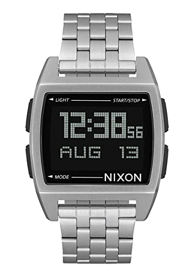 Nixon - Reloj Digital para Hombre, 38 mm, Color Plateado y Negro: Amazon.es: Relojes