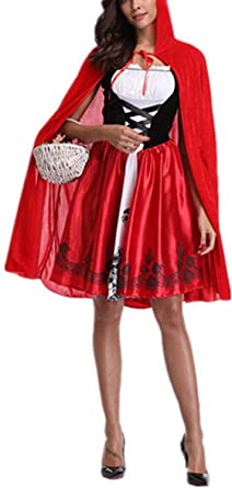 Zojuyozio Vestido De Fiesta Disfraz Cosplay Caperucita Roja De ...