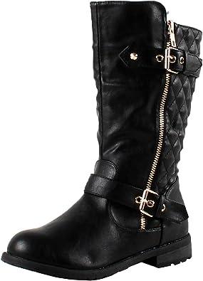 girls black riding boots