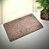 Cozy Corner Inside or Outside Doormat, Shoes Scraper for Front Door Mat, Outdoor Indoor Rug for Patio Kitchen Bathroom, Absorbent Cotton, Microfiber Carpet with Non-Slip Rubber Backing in Brown