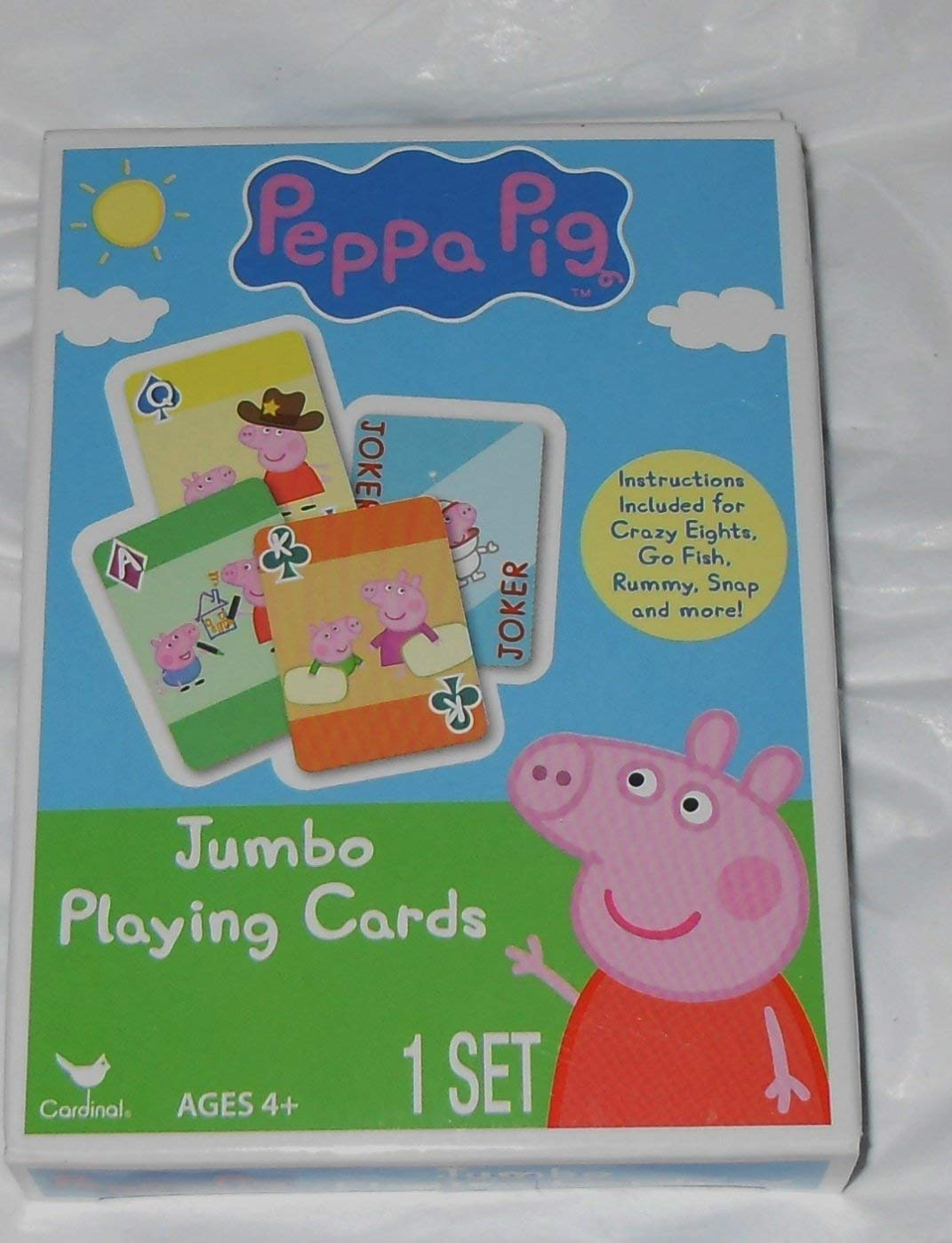 Peppa Pig Jumbo - Juego de cartas, para jugar Crazy Eights ...