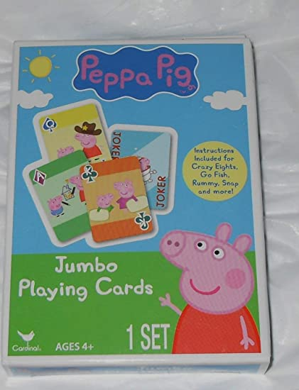 Amazon.com: Peppa Pig Jumbo Playing Cards – Tarjetas para ...