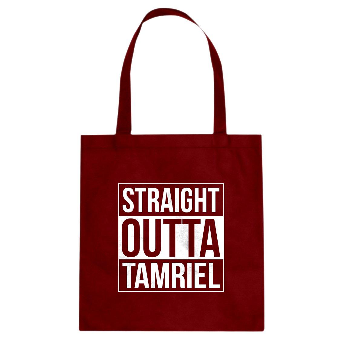 Indica Plateau Straight Outta Tamriel Cotton Canvas Tote Bag