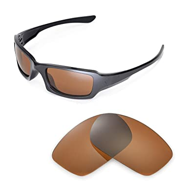 2eaf1ed17d Walleva Replacement Lenses for Oakley Fives Squared Sunglasses -15 Options ( Brown - Polarized)