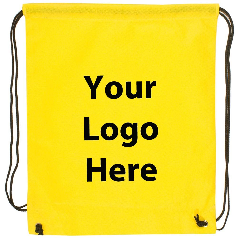 Econo String Backpack - 100 Quantity - $1.30 Each - PROMOTIONAL PRODUCT / BULK / Branded with YOUR LOGO / CUSTOMIZED by Sunrise Identity