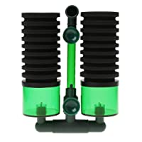 TOOGOO Aquarium Fish Tank Biochemical Sponge Filter Air Pump Double Head with Suction Cup Practical Size L