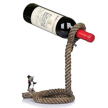 PLYY Cuerda Simple Sostenedor de la Botella de Vino Portavasos Porta Vino Decoración Artesanía Creativa: Amazon.es: Deportes y aire libre