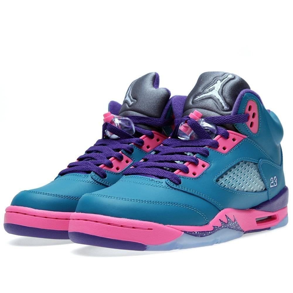 purchase cheap 69298 04cd9 Jordan 5 Retro (GS) Big Kids Basketball Shoes Tropical Teal ...
