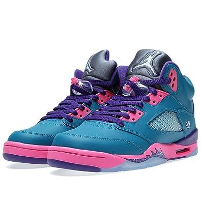 0c53ba22f35312 ... clearance jordan 5 retro gs big kids basketball shoes tropical teal  white digital 180ca 2b69a