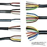 AUPROTEC Cable Multipolar 2-13 Hilos, Cable Eléctrico Multiconductor al Metro para Automovìl Remolque Selección: 7 fils 7 x 1.0 mm² Cable Redondo