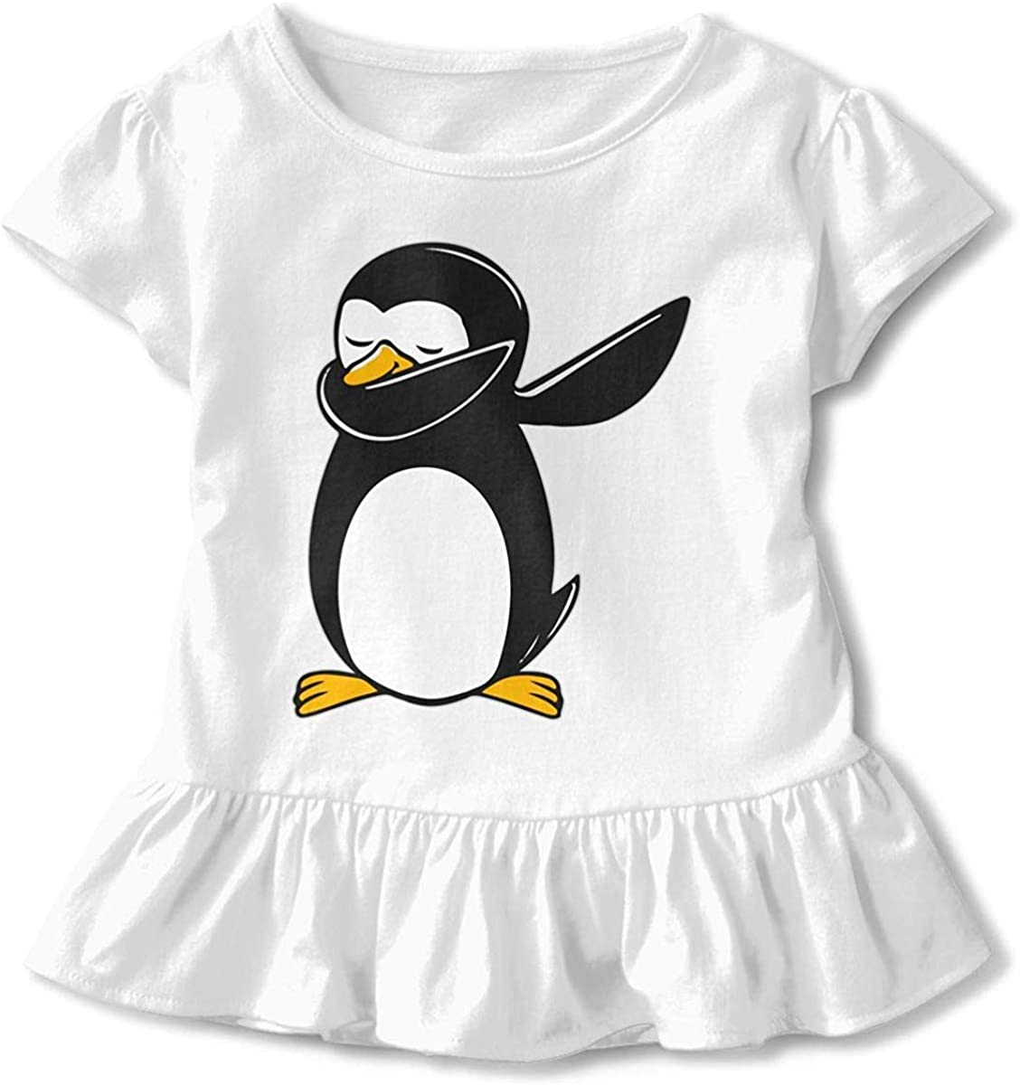 HelloWorlduk Toddler Baby Girl Penguin Dab Funny Short Sleeve Cotton T Shirts Basic Tops Tee Clothes