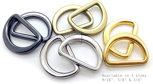 1//2 Inch, Silver CRAFTMEmore D Rings Tiny Flat Metal D-ring Heavy Duty Purse Findings 25 pcs