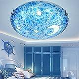 HXDZL Modern Light Fixture Pendant Lights Ceiling Lamp for Corridor, Veranda, Bedroom, Bathroom, Dining Room,Living Room Led Circular 30 cm Children Celing Lights