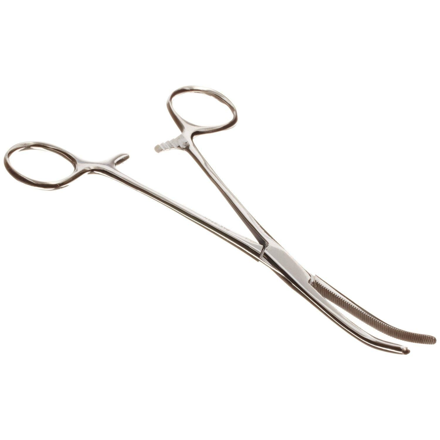 Set of 2 Pairs 8'' Curved Hemostat Forceps Locking Clamps - Stainless Steel