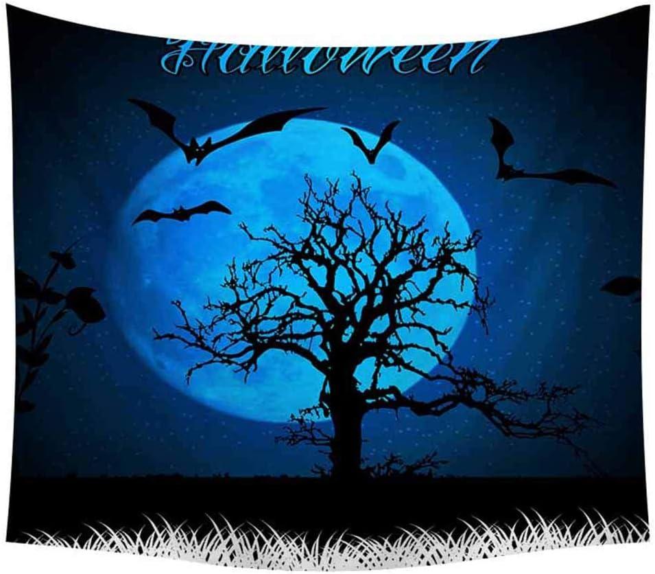 Sch/ädel K/ürbis K/ürbisbaum Hexe Baum Druck / Wandteppich Wandbehang Wandtuch Poster Kunst Haus Dekoration A TIREOW Halloween Tapisserie 150x200cm