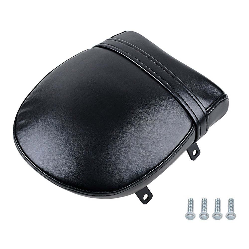 Astra Depot Motorcycle Black Synthetic Leather Rear Passenger Pillion Pad Seat Kit for Victory Vegas Kingpin