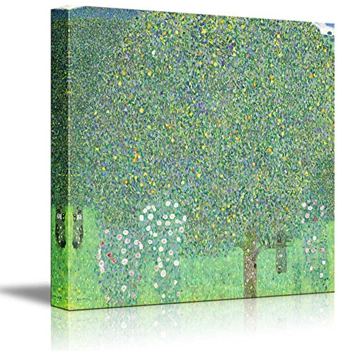 Rosebushes Under The Trees by Gustav Klimt Austrian Symbolist Painter