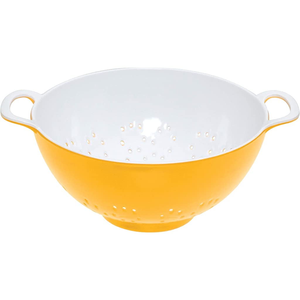 kitchen-craft-colourworks-yellow-melamine-colander-15-cm