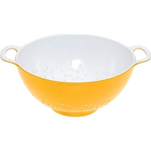 kitchen-craft-colourworks-yellow-melamine-colander-15-cm