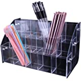 Clear Acrylic Pen Holder Stationery Store Storage Brush Case Clear Display Stand Desktop Writing Pot Writing Pencil…