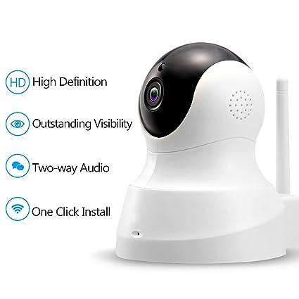 Cámara vigilancia 1080p – Cámara IP Camera WiFi con Audio bidireccional, Cámara Inalámbrico Visión Nocturna