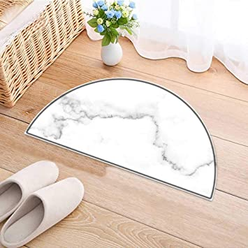semicircle area rug carpet natural white marble texture for skin