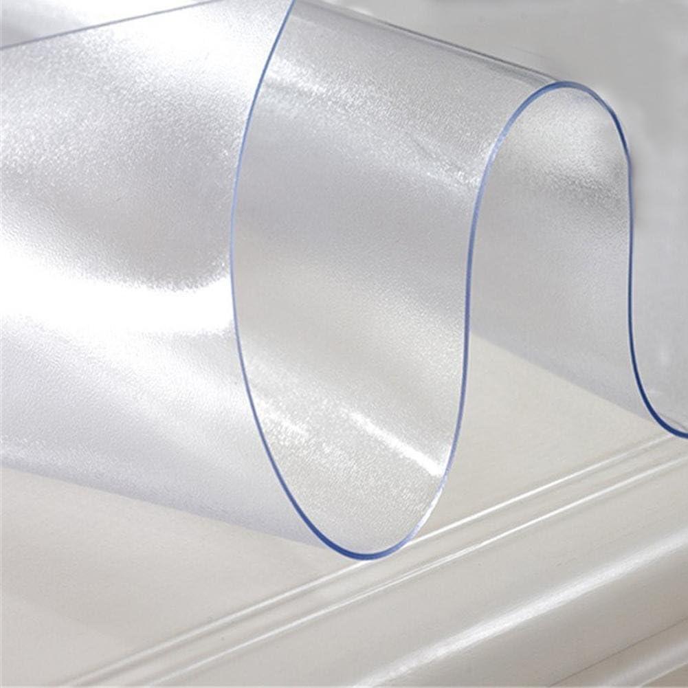 Nappe Faite sur Commande De PVC De Nappe Transparente De Rectangle D/étanch/éit/é De Graisse De DIY chinejaper Nappe Rectangulaire PVC Ligne D/écor Nappe Cristal
