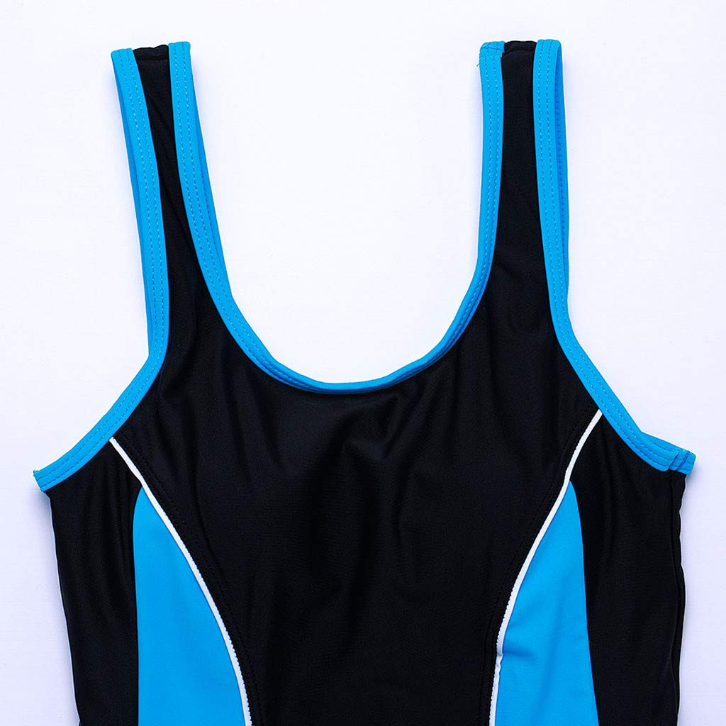 Allywit Woman One Piece Short Sleeve Snorkeling Surfing Swim Suit 2mm Neoprene Conjoined Diving Suit Thin Wetsuit New Sky Blue by Allywit (Image #4)