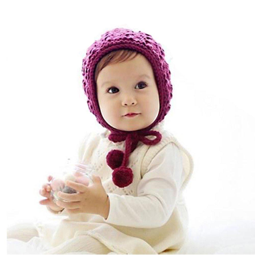Verala Baby Toddler Knitted Crochet Pilot Cap Bonnet Winter Hat