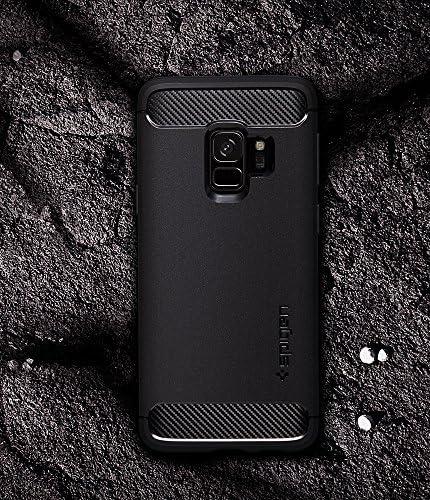 Matte Black 2018 Spigen Rugged Armor Designed for Samsung Galaxy S9 Case